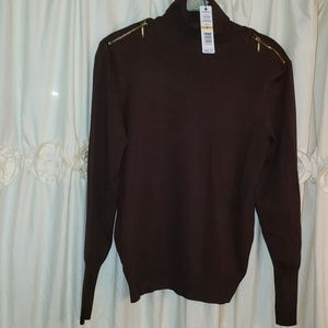 NWTS Coffee Bean Brown Turtle Neck Sweater